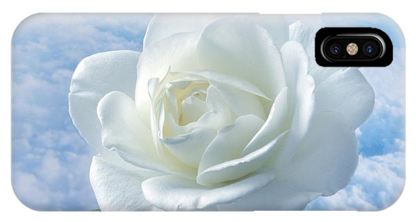 Heavenly White Rose. IPhone Case