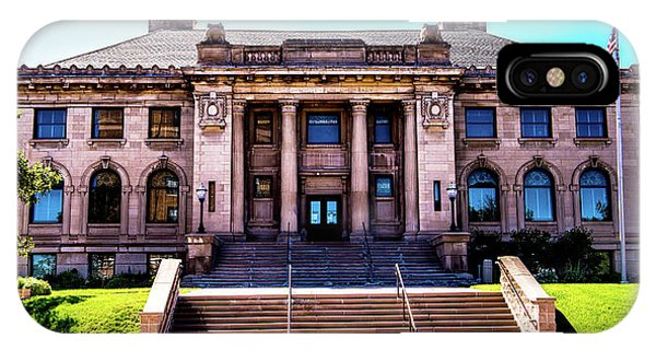 IPhone Case featuring the photograph Historic Public Library by Onyonet  Photo Studios