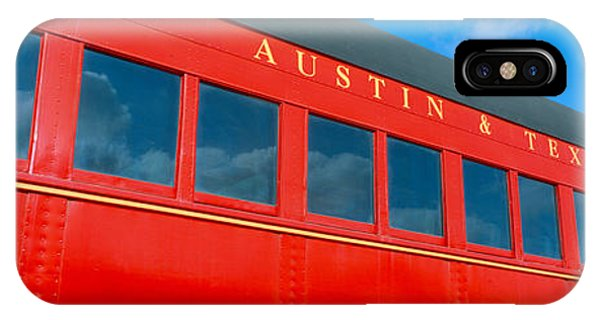 Red Caboose iPhone Case - Historic Red Passenger Car, Austin & by Panoramic Images