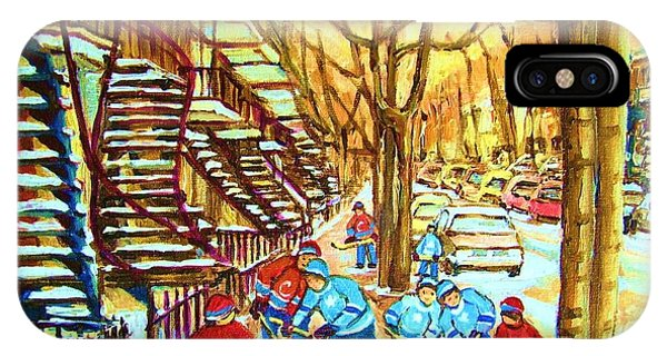 Hockey Game Near Winding Staircases IPhone Case