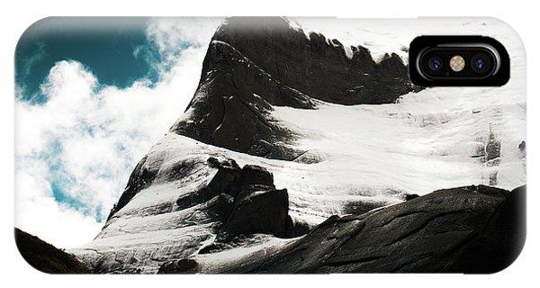 Kora iPhone Case - Holy Kailas Fragment Himalayas Tibet Yantra.lv by Raimond Klavins