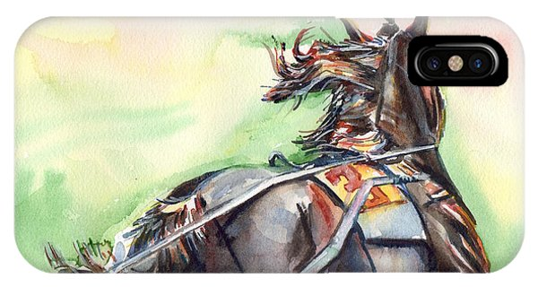 iPhone Case - Horse Art In Watercolor by Maria Reichert