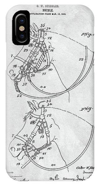 Horse Bridle Patent IPhone Case