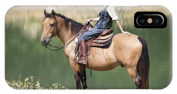 Horse Riding IPhone Case
