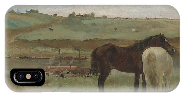 Horses In A Meadow IPhone Case