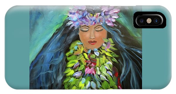 Hula Maiden IPhone Case