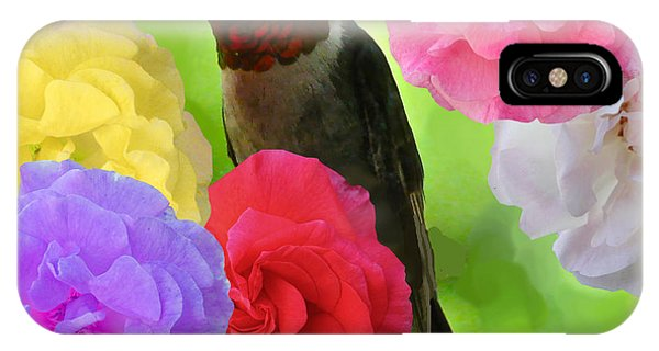 Hummingbird Flower Phone Case by Debra     Vatalaro