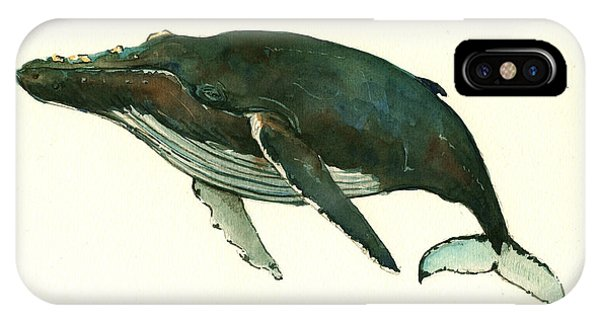 Whale iPhone Case - Humpback Whale  by Juan  Bosco