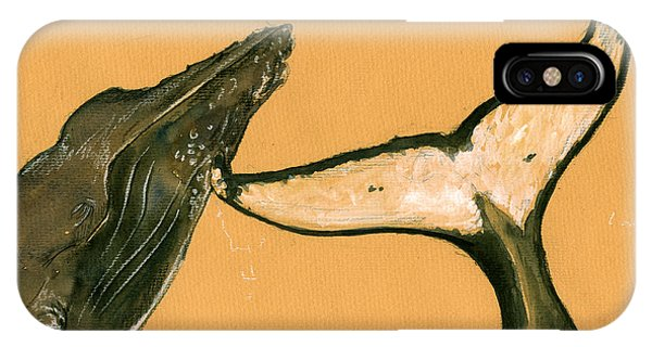 Whale iPhone Case - Humpback Whale Painting by Juan  Bosco