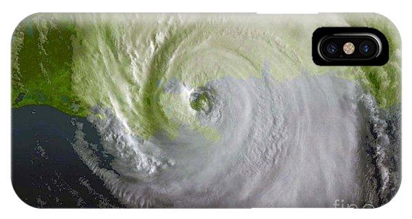 Katrina iPhone Case - Hurricane Katrina by Science Source