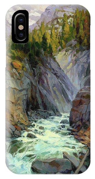 Rocky Mountain iPhone Case - Hurricane River by Steve Henderson