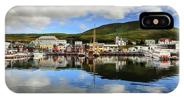 Husavik Harbor IPhone Case