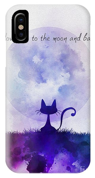 Moon iPhone Case - I Love You To The Moon And Back by My Inspiration