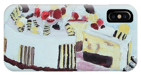 Ice Cream Cake Oil On Canvas IPhone Case