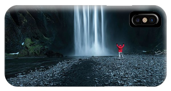 Waterfall iPhone Case - Iceland Waterfall by Larry Marshall