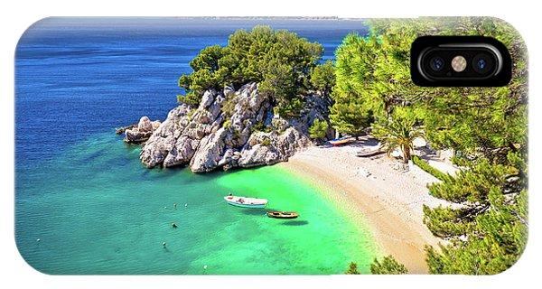 Idyllic Beach Punta Rata In Brela Aerial View IPhone Case