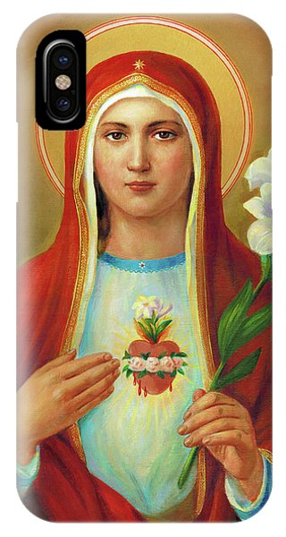 iPhone Case - Immaculate Heart Of Mary by Svitozar Nenyuk