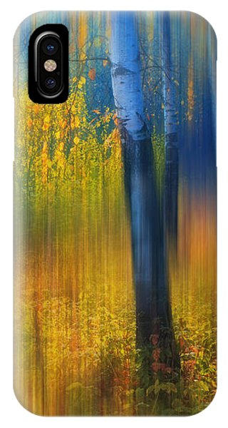 In The Golden Woods. Impressionism IPhone Case