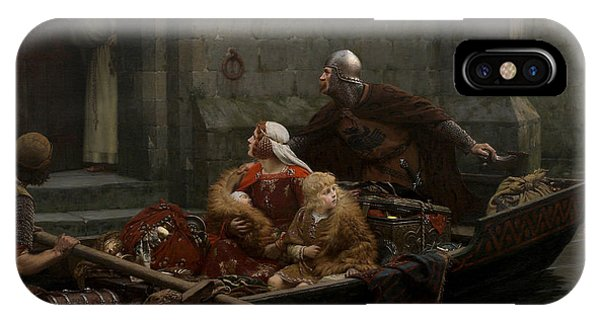 20th Century Man iPhone Case - In Time Of Peril by Edmund Leighton