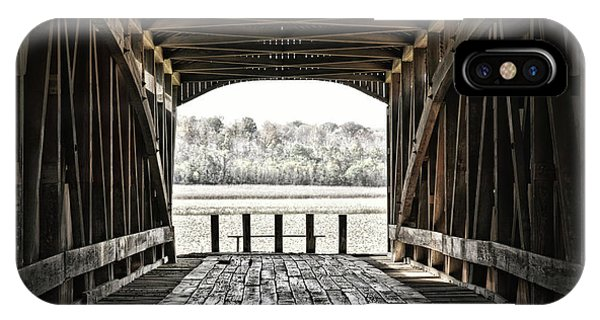 Inside The Covered Bridge IPhone Case
