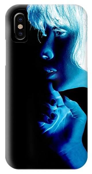 Pop Art iPhone Case - Inverted Realities - Blue  by Serge Averbukh