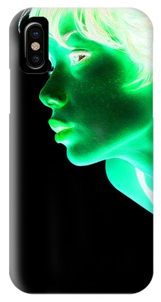 Pop Art iPhone Case - Inverted Realities - Green  by Serge Averbukh