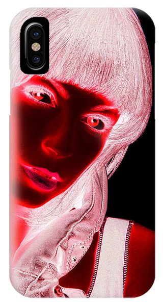 Pop Art iPhone Case - Inverted Realities - Red  by Serge Averbukh