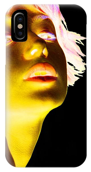 Pop Art iPhone Case - Inverted Realities - Yellow  by Serge Averbukh