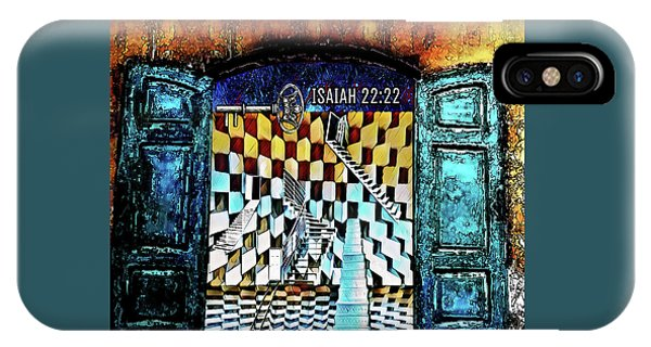 IPhone Case featuring the digital art Isaiah 22 22 by Jennifer Page