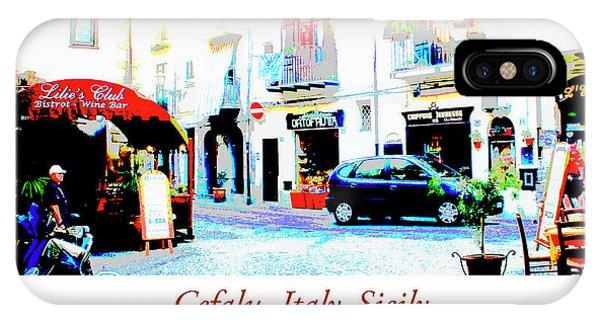Italian City Street Scene Digital Art IPhone Case
