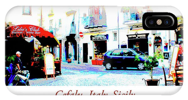 Italian City Street Scene Digital Art IPhone Case