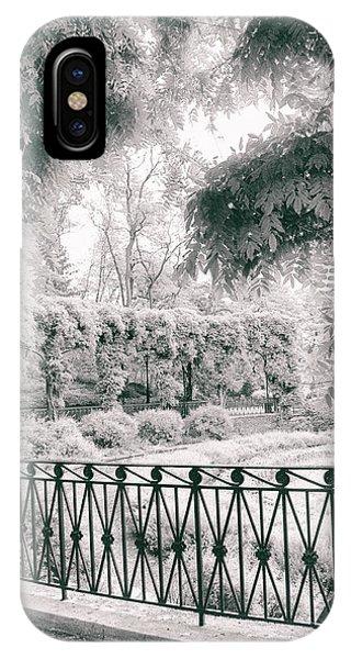 Ironwork iPhone Case - Italianate Garden Terrace by Jessica Jenney