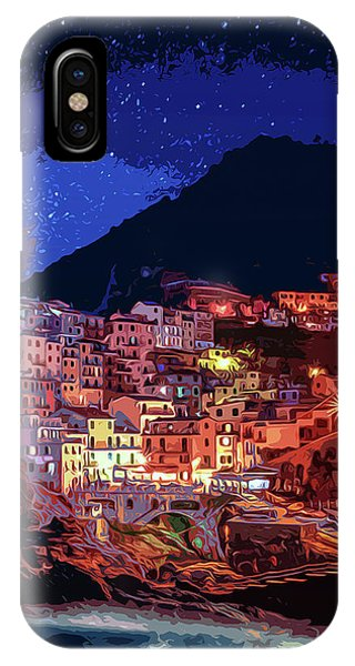Italy, Manarola At Night IPhone Case