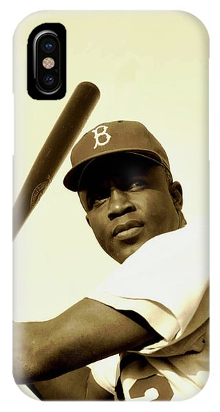 Baseball Hall Of Fame iPhone Case - Jackie Robinson 1952 by Mountain Dreams