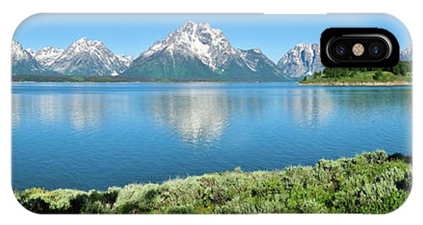 Jackson Lake Teton Panorama IPhone Case