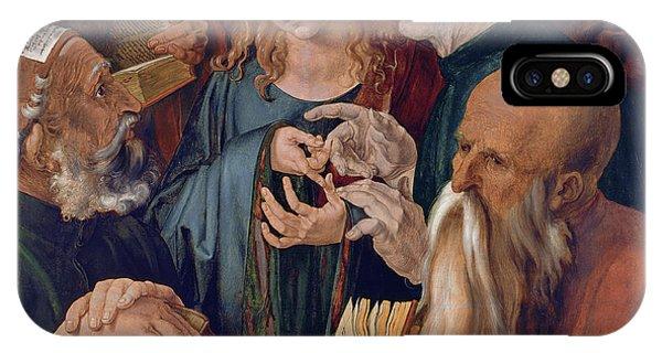 Albrecht Durer iPhone Case - Jesus Among The Doctors by Albrecht Durer