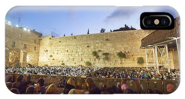 Jewish Sunrise Prayers At The Western Wall, Israel 8 IPhone Case
