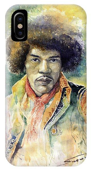 Legends Music iPhone Case - Jimi Hendrix 06 by Yuriy Shevchuk