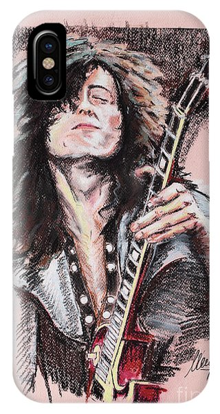 Jimmy Page iPhone Case - Jimmy Page by Melanie D
