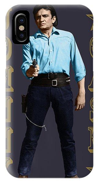 Johnny Cash iPhone Case - Johnny Cash by David Richardson