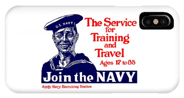 Join The Navy - The Service For Training And Travel IPhone Case