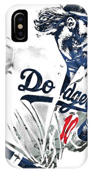 Ball iPhone Case - Justin Turner Los Angeles Dodgers Pixel Art by Joe Hamilton