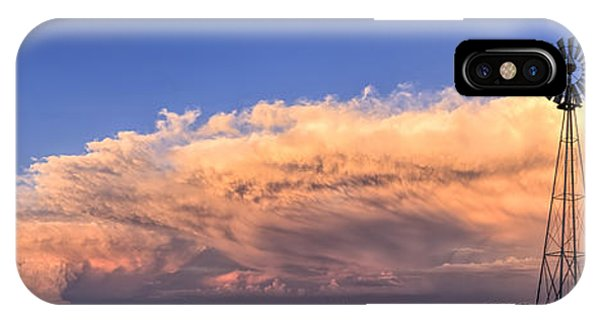Kansas Storm And Windmill IPhone Case