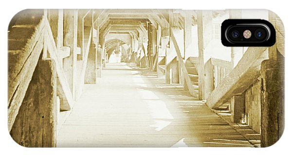 Kapell Bridge, Lucerne, Switzerland, 1903, Vintage, Photograph IPhone Case