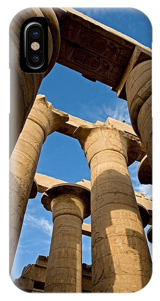 Karnak Temple Great Hypostyle Hall IPhone Case