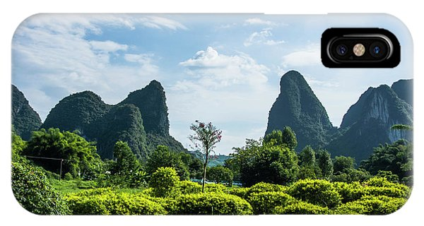 IPhone Case featuring the photograph Karst Mountains Scenery by Carl Ning