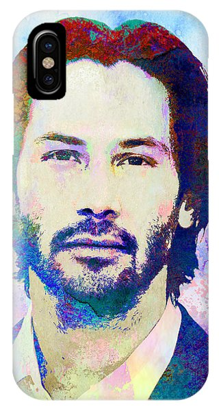 Famous People iPhone Case - Keanu Reeves by Elena Kosvincheva