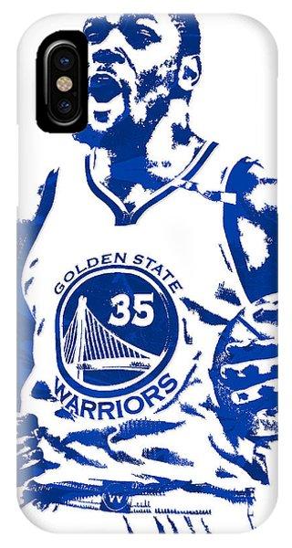 Tickets iPhone Case - Kevin Durant Golden State Warriors Pixel Art 4 by Joe Hamilton
