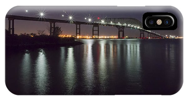 Key Bridge At Night IPhone Case
