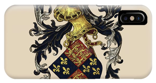 Supply iPhone Case - King Of England Coat Of Arms - Livro Do Armeiro-mor by Serge Averbukh